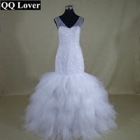 QQ Lover 2018 Self designed Luxury Expensive Full Beading Real African Fashion Wedding Dress Sexy Lace up Vestido De Novia