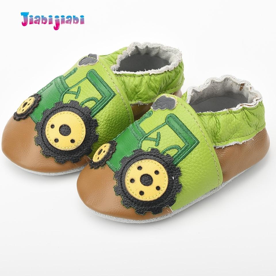 Nieuwe baby lederen schoenen jongen schattige trekker auto schoenen - Baby schoentjes - Foto 3