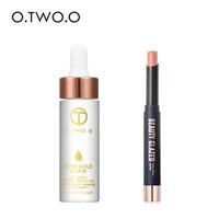 O. TWO. O увлажняющий лосьон-праймер для губ эфирное масло для губ Make Up Matte Lipstick долговечная водостойкая помада