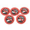 5 PCS Borracha placa de Proibido Fumar Car Veículos Truck Adesivo de Carro Auto Porta Autocolantes Decoração