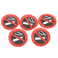 5PCS Rubber No Smoking Sign Car Vehicle Truck Sticker Auto Car Door Decoration Stickers