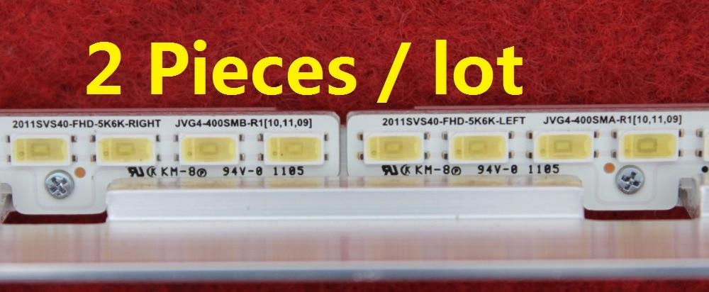 UA40D5000PR LTJ400HM03-H LED strip BN64-01639A 2011SVS40-FHD-5K6K-Right LEFT 2011SVS40 56K H1 1CH PV 2 Pieces/lot 440mm 62LED