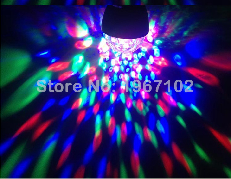 Image 5 - 3W  Led Disco E27 Light Stage Lights Ball Sound Activated Laser Projector effect Lamp Light for home Christmas party decoration-in Stage Lighting Effect from Lights & Lighting on