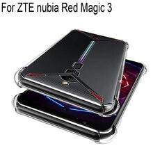 Воздушная подушка противоударный чехол для zte Nubia Red Magic 3 NX629J силиконовый чехол для телефона красный Magic3 красный Magic3 Корпус Корпуса