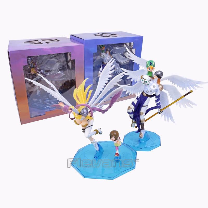 Digimon Adventure Digital Monster Takaishi Takeru & Angemon / Yagami Hikari & Angewomon PVC Figure Collectible Model Toy 25cm japan anime digimon adventure original megahouse g e m complete figure angewomon & yagami hikari