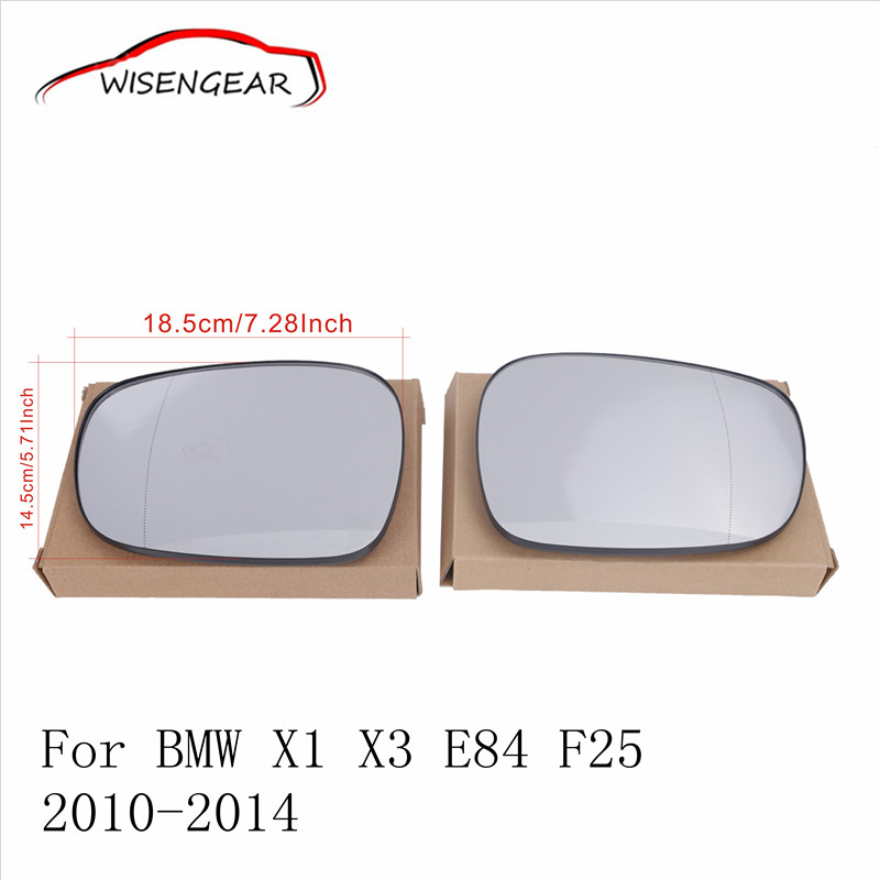 Right Driver side mirror glass for Mercedes C-Class 2014-On wide angle heated