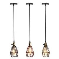 1 5M Vintage Industrial Retro Dimmable E27 Pendant Light Iron Hanging Lamp Lighting For Home Restaurant