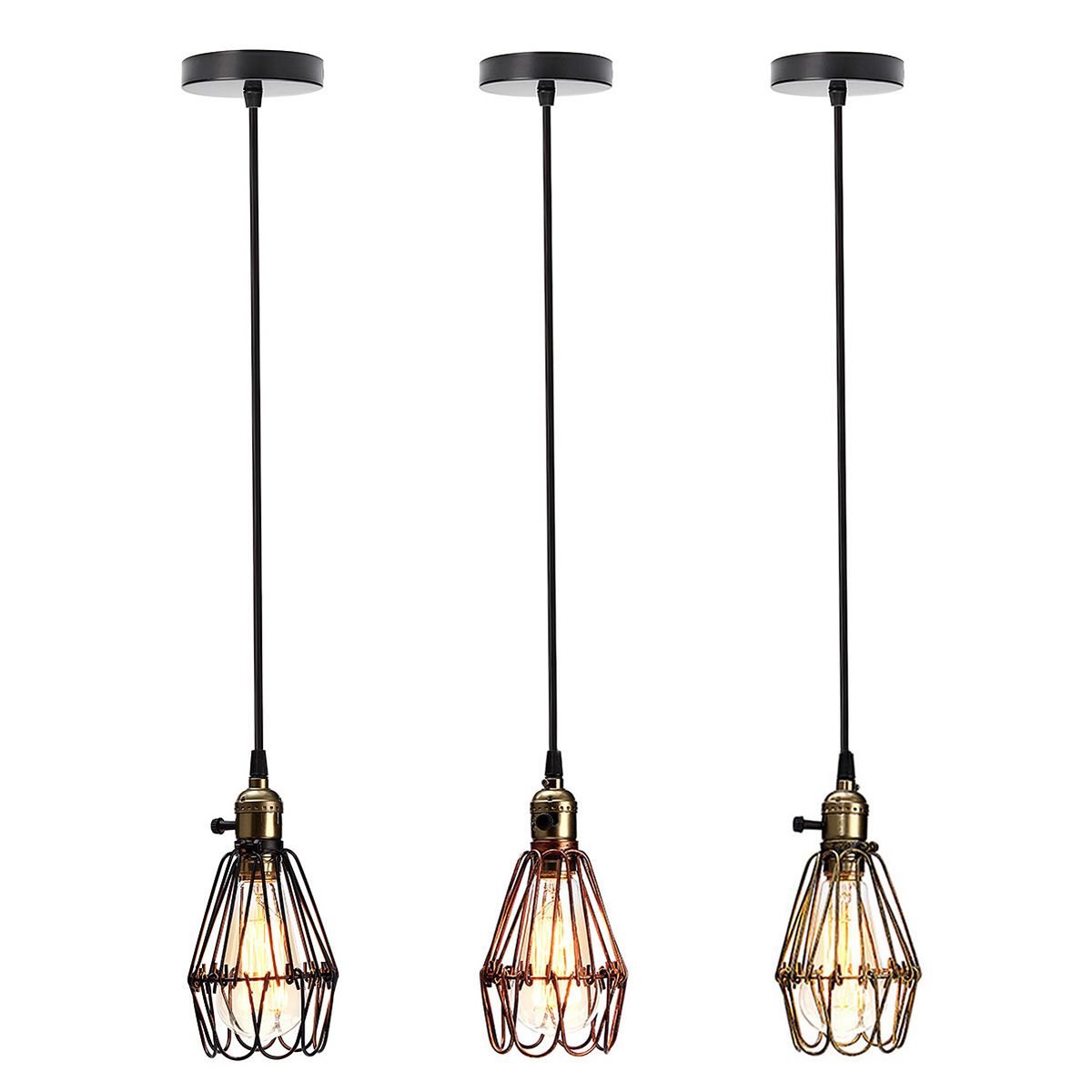 1.5M Vintage Industrial Retro Dimmable E27 Pendant Light Iron Hanging Lamp Lighting For Home Restaurant 110-220V loft industrial rust ceramics hanging lamp vintage pendant lamp cafe bar edison retro iron lighting