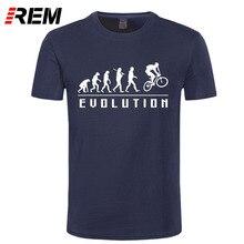 REM Evolution Of Biking t shirt Top Lycra Cotton Men T Shirt