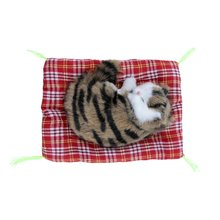 1pc Stuffed Toys Lovely Simulation Animal Doll Plush Sleeping Cats with Sound for Kids Toy Birthday Gift Doll Decorations Toys
