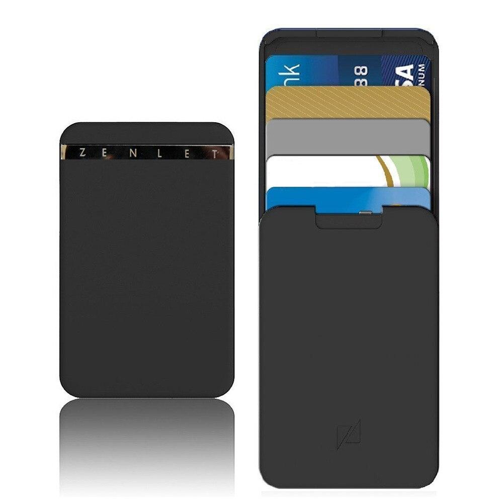 1 Pc Kreditkarte Halter Männer Bussiness Zenlet Kreditkarte Paket Anti-seite Brieftasche Action Brieftasche Push-pull Karte Halter Fall Attraktives Aussehen