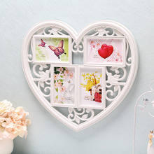 European Heart Wall Hanging Combination Frame Home Art Decor Wedding Photo Picture Photo Frames