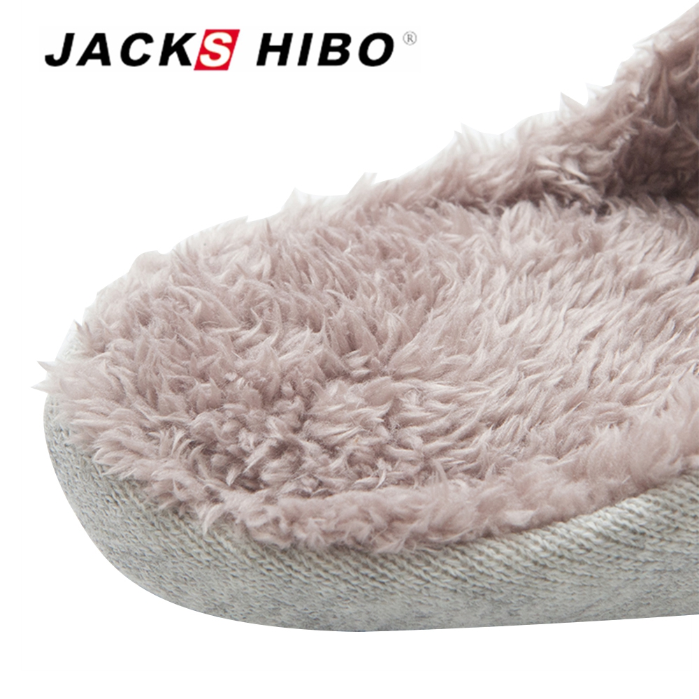 JACKSHIBO Winter Kids Slippers Indoor Shoes Home Slippers Anti-skid Child Slip-on Cotton Warm Shoes For Toddler Bed Floor Shoes