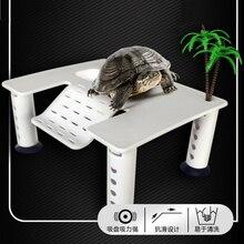 Amphibian Reptile Terrarium Decoration Turtle Tortoise Basking Platform 17.2*13.8*7cm