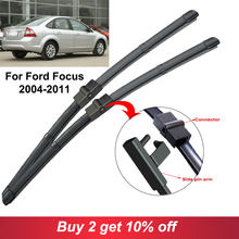 Car Windscreen Wiper Blades Rubber Accessories For Ford Focus 2 Styling S530 2004 2005 2006 2007 2008 2010 2017