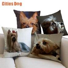 Animal dog linen Pillowcase Cushion Australian Terrier wedding decoration supplies car sofa Pillow Cushions