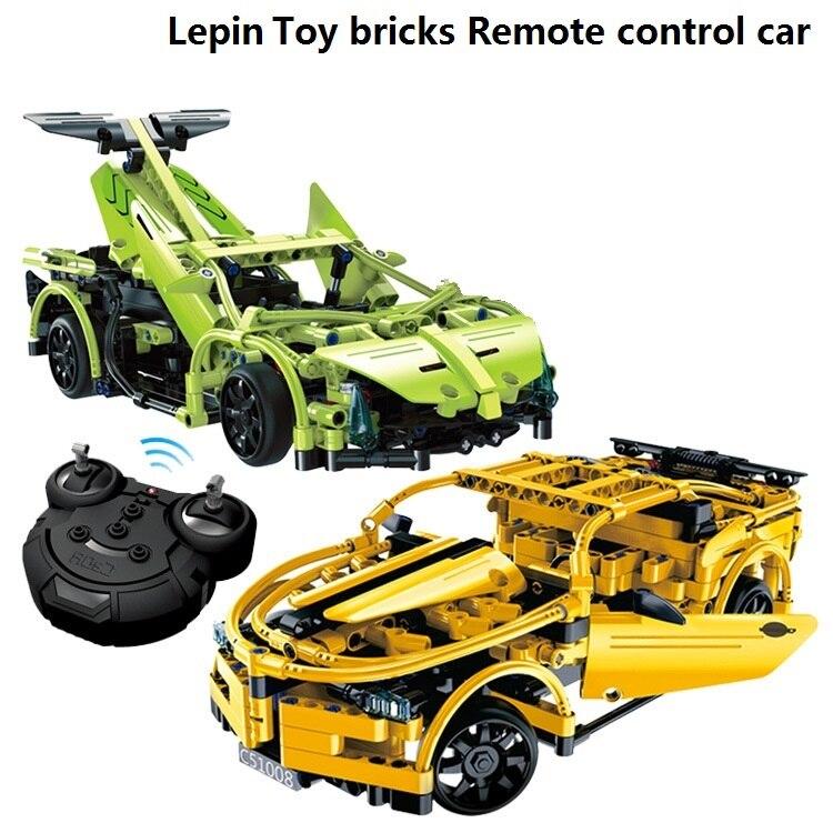 Lepin Tech font b toy b font bricks Remote control sports puzzle RC car Christmas birthday