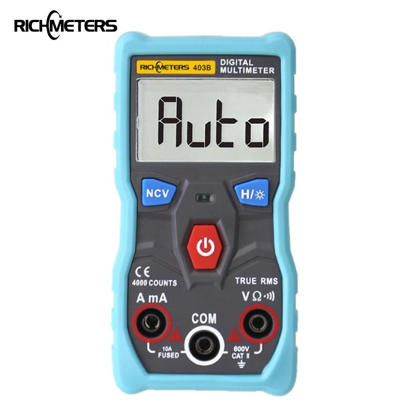 RM403B automático multímetro Digital de verdadero valor eficaz (RMS inteligente NCV 4000 cuenta AC/DC de corriente de voltaje Ohm herramienta de prueba de Japón corea