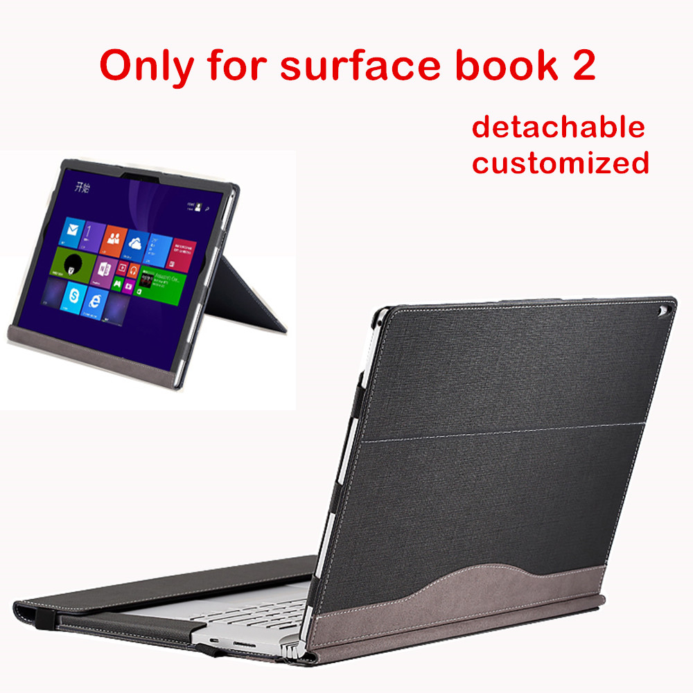 Detachable Cover For Microsoft Surface Book2 13 5 Book 2 15 Inch Tablet Laptop Sleeve Stand
