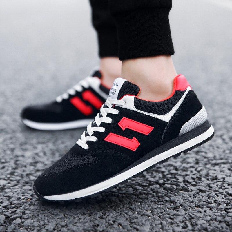 Hommes Chaussures Shoes9 Toile Appartements Mode rouge Daim Net Occasionnels blanc Automne Respirant De Noir gris Pour Tissu D'été 2018 En Nouveaux 5tBqaw1