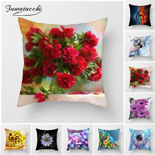 Fuwatacchi Fiore Colorato Fodere per Cuscini di Girasole Rosa Dente di Leone Dec