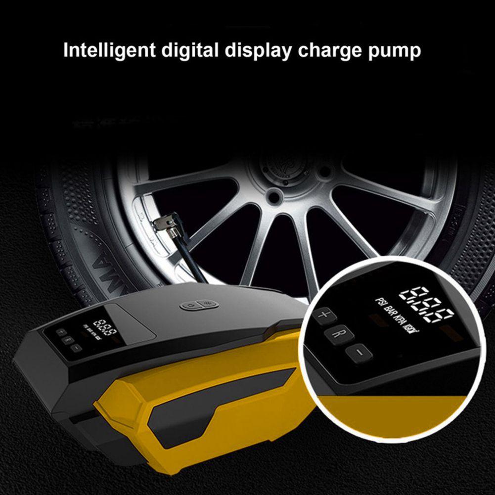 Coche LED pantalla Digital compresor de aire portátil inflable de la bomba de 12 V neumático de automóvil rápido inflador eléctrico Auto para Trave