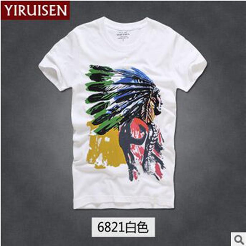 TOP Kwaliteit AF Anjoy & Fitch merk Casual T-shirt 100% katoen Tops & - Herenkleding - Foto 2