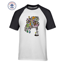 2017 New Summer Funny Tee Geek Thoughts From Lantern Cotton Funny T Shirt for men