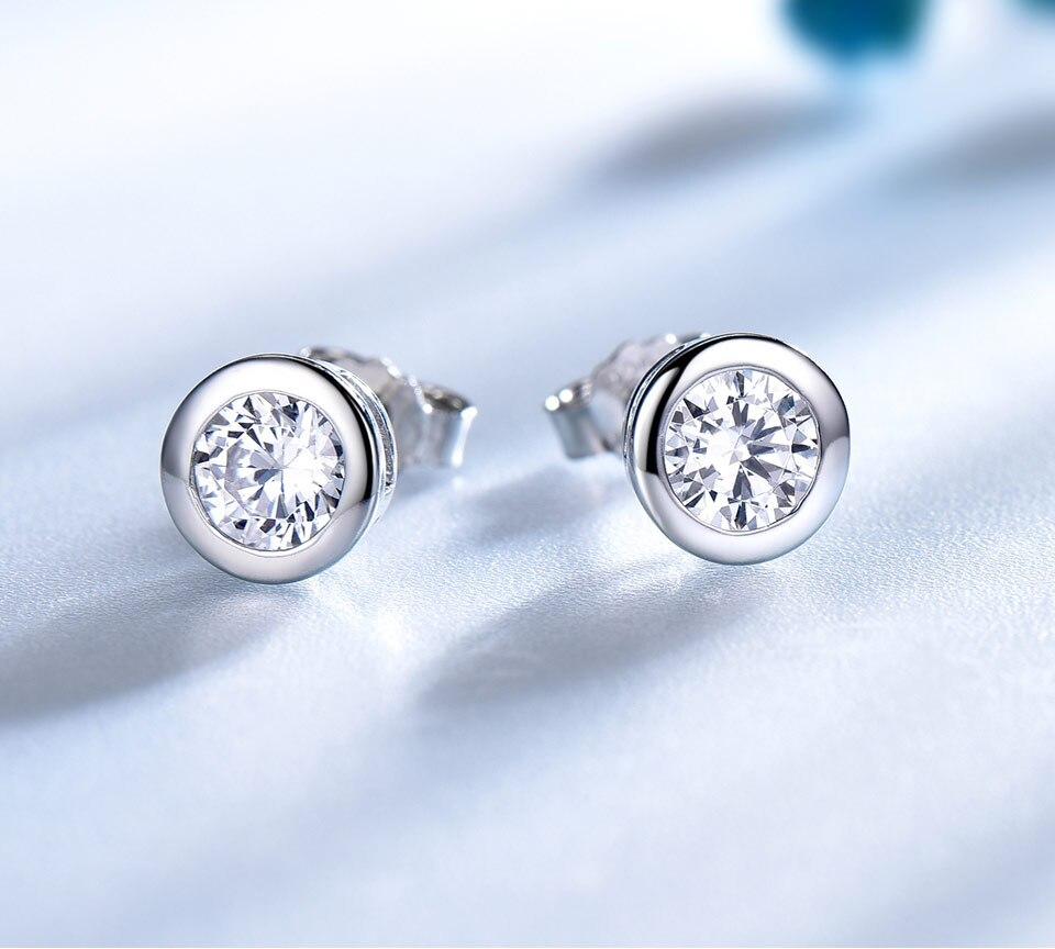 UMCHO CZ Silver sterling stud earrings for women EUJ052Z-1-pc (2)