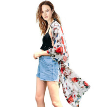 2016 New European and American Beach Chiffon Cardigan Sun Protection Clothing Thin Coat Longer Section Coat Women
