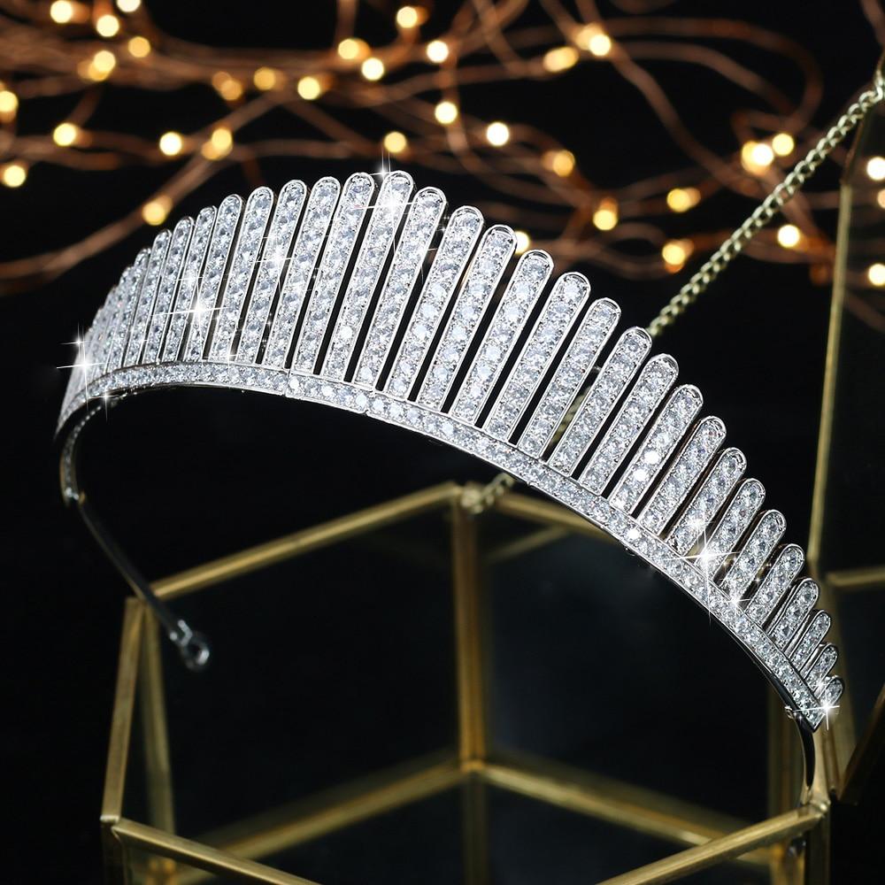 ASNORA New Arrivals Royal Tiaras for Brides Hair Jewelry Shiny Zircon Bridal Crowns Wedding Tiaras Princess