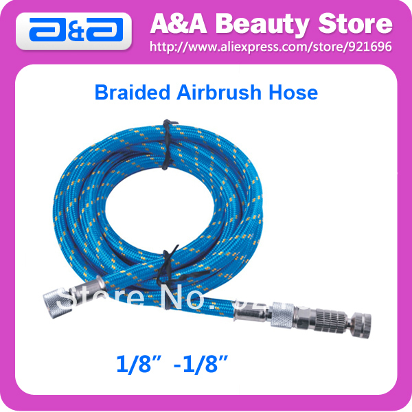 7 5m expandable hose Braided Airbrush Hose with Coupler 1/8-1/8  for Airbrush Length: 3m Dia.: 7 x 4mm Export Quality