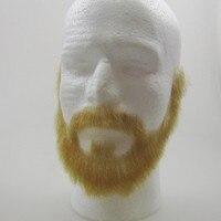 Новое поступление Горячая распродажа! натуральные волосы кружева блондинка борода и знаменитости усы и бородой, светло желтый борода