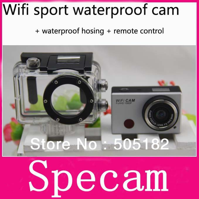 Mini 5.0MP Sports Action Camera DVR Helmet F21 HD 1080P 30FPS buil-in Wifi+Remote Control+Waterproof camcorder 50M - specam store