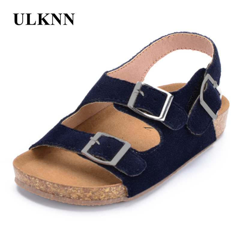 ULKNN Boys Sandals Kid Sandals Children Shoes Cut outs Rubber Leather School Shoes Breathable Open Toe Casual Toddler Sandal in Sandals from Mother Kids