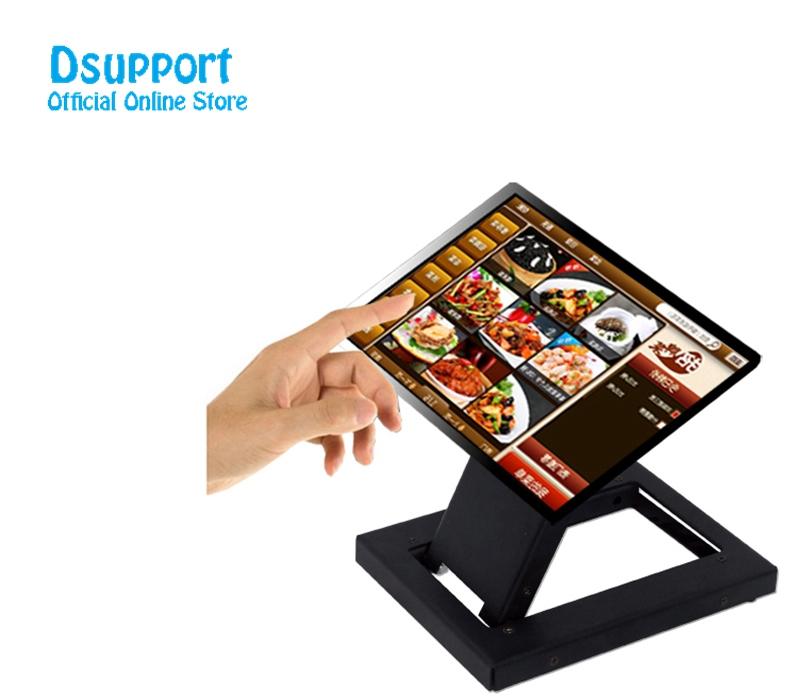 Full Motion Foldable 14-24 inch Touch Screen Stand Monitor Holder TV Mount Steel Base loading 15 kgs TSM-100