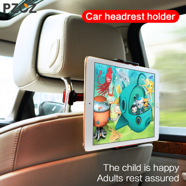 PZOZ For Ipad Car Holder Back Seat Mount 360 Degree Iphone X 8 7 Mini