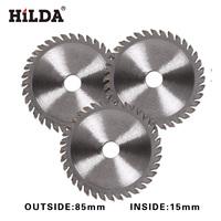 HILDA TCT Tungsten Carbide Mini Circular Saw Blade 24T for Wood Cutting Power Tool Accessories mini saw inside 15mm 3pcs