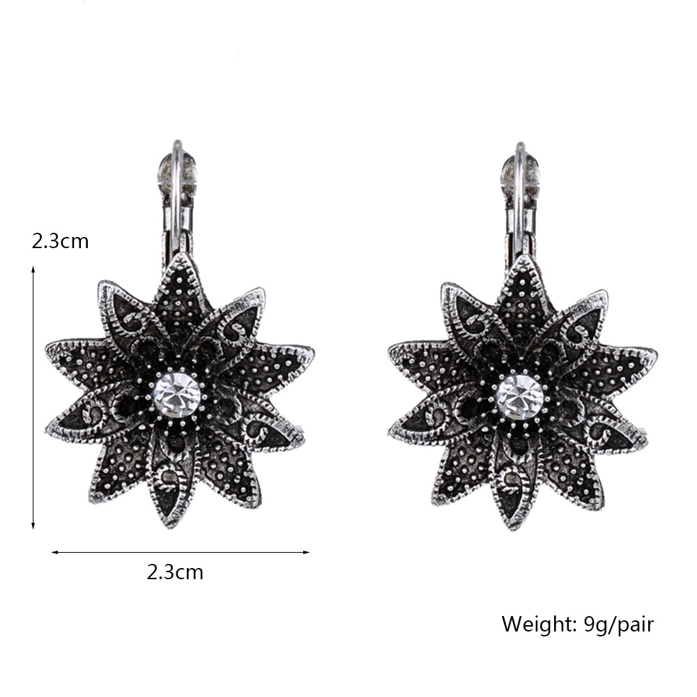 MYTHIC AGE Tibetan Silver Color Carved Flower Vintage Ethnic Drop Dangle Earrings Retail Jewelry Jewellery Gift For Women Girls 14