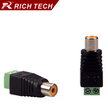 5pcs RCA connector AV Balun Phono Female RCA Jack adapter CAT5 to CCTV Camera retail cable Terminal Block to RCA  wire connector