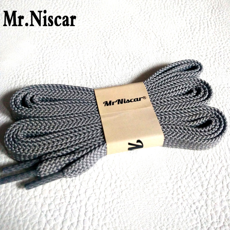 Mr.Niscar New Arrival 1 Pair High Quality Light Gray Flat Shoelaces Brand Shoe Laces Colorful Casual Sneakers Shoelace 100-180cm high quality 1 pair right
