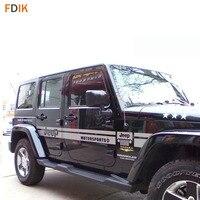 Large Black / Grey Body Sticker Decal Vinyl Decal for Jeep Wrangler Compass Patriot 4Door