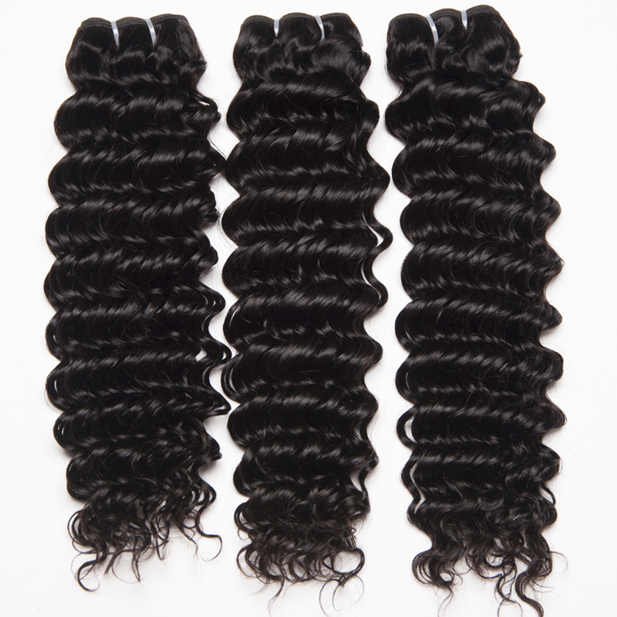 Deep Wave Human hair 3 Bundles With Closure Brazilian Hair Weave Bundles ALIPOP Lace frontal Closure With Baby Hair Non Remy (6)