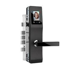 Бесключевой умный дверной замок из алюминиевого сплава с распознаванием лица, электрический замок для домашнего офиса, контроль доступа