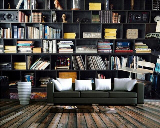 Tapete Bücherregal beibehang benutzerdefinierte tapete modernen europäischen