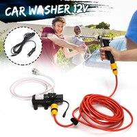 65W Portable High Pressure Car Washer 12V Electric Washing Maintenance Cleaner Water Pump Sprayer Kit Tool Auto Car Wash Machine