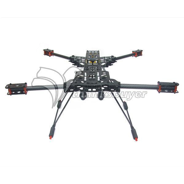 ATG X4 680mm Alien with10mm Quadcopter Juego de Estructura de Fibra de Carbono Tubo de Montaje del Cardán DJI Naza