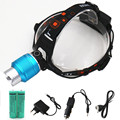 Rechargeable led Headlamp Zoom 6000lm xml-t6 Zoomable headlight light lamp Lantern lighting 18650 battery Car usb charger