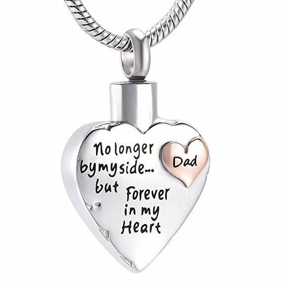 Always in my heart Mum heart Urn Keyring Memorial Ash Cremation Jewellery Engrav