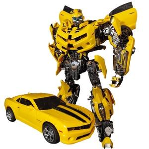 Image 5 - WJ трансформация MPM 03 MPM03 MPM 03 желтая Пчелка фильм оверсайз 28 см сплав версия Коллекция фигурка Робот Игрушки Подарки
